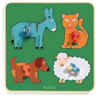 PUZZLE FAMILY FARM   Puzzle Djeco