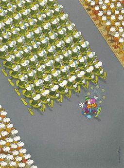 Puzzle Mordillo 500 pezzi Clementoni The March