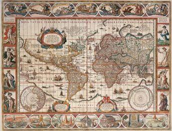 Puzzle Mappamondo 2000 pezzi Ravensburger Mappamondo 1650