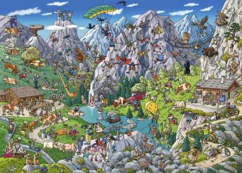 Puzzle 1000 pezzi Alpine Fun, Tanck Heye su ARSLUDICA.com