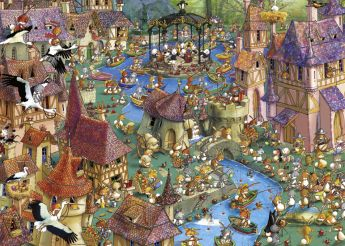 Puzzle 1000 pezzi Bunnytown - Ruyer Heye su ARSLUDICA.com