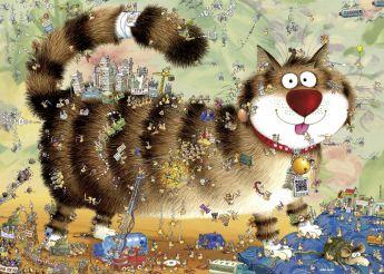 Puzzle 1000 pezzi Cat's Life - Degano Heye su ARSLUDICA.com