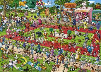 Puzzle 1000 pezzi Dog Show, Tanck Heye su ARSLUDICA.com