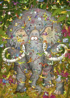 Puzzle 1000 pezzi Heye Elephant's Life, Degano su ARSLUDICA.com