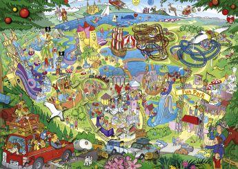 Puzzle 1000 pezzi Heye Fun Park Trip, Lyon su ARSLUDICA.com