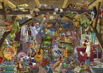 Puzzle 1000 pezzi Heye In The Attic, Tanck su ARSLUDICA.com