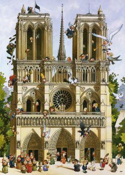 Puzzle 1000 pezzi Heye Vive Notre Dame!, Loup su ARSLUDICA.com