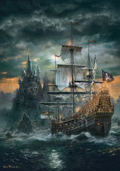Puzzle Fantasy 1500 pezzi Clementoni The Pirate Ship