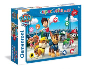Puzzle 24 pezzi maxi Paw Patrol Clementoni su ARSLUDICA.com