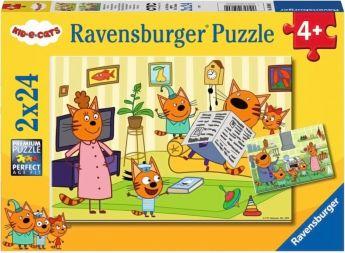 Puzzle 2x24 Pezzi Ravensburger Kid & Cats