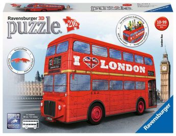 Puzzle 3D London Bus Gioco (Ravensburger 3D Puzzle)
