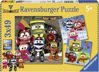 Puzzle 3x49 Pezzi Ravensburger Robot Trains