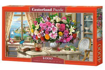 Puzzle 4000 pezzi Castorland Fiori Estivi e Tazza di Te | Puzzle Fiori