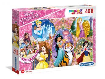 Puzzle 40 pezzi maxi Disney Princess Clementoni su ARSLUDICA.com