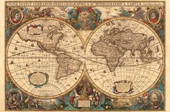 Puzzle 5000 pezzi Ravensburger Antico Mappamondo | Puzzle Arte
