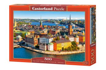 Puzzle 500 pezzi The Old Town of Stockholm, Sweden Castorland su arsludica.com