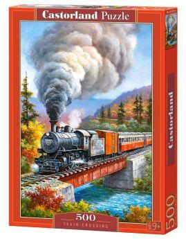 Puzzle 500 pezzi Train Crossing Castorland su arsludica.com