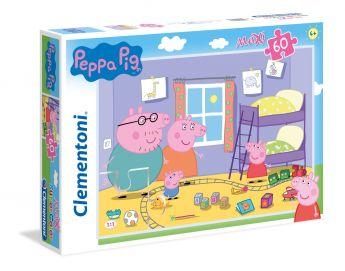 Puzzle 60 pezzi maxi Peppa Pig Clementoni su ARSLUDICA.com