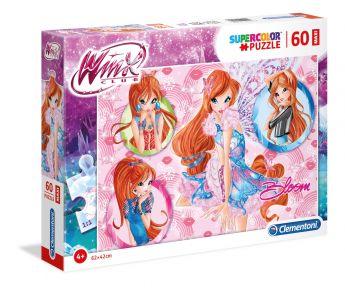 Puzzle 60 pezzi maxi Winx Clementoni su ARSLUDICA.com