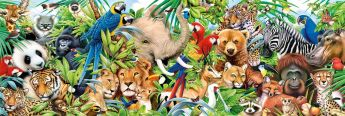 Puzzle Animali 1000 pezzi Clementoni Wildlife