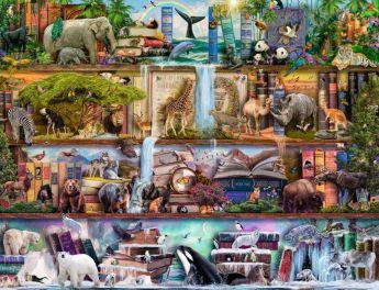 Puzzle Animali 2000 pezzi Ravensburger Animali Selvatici