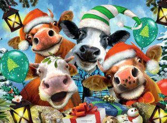 Puzzle Animali 500 pezzi Ravensburger Buon Natale!