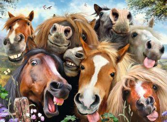 Puzzle Animali 500 pezzi Ravensburger Selfie in Fattoria su ARSLUDICA.com