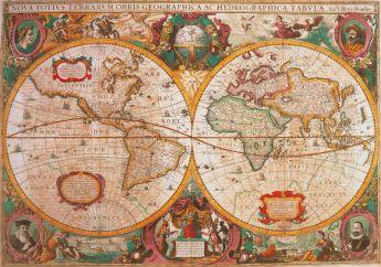 Puzzle  Arte1000 pezzi Clementoni Mappa Antica