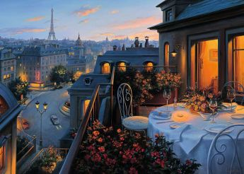 Balcone a Parigi (Puzzle 1000 pezzi Ravensburger)