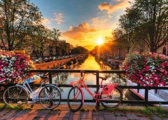 Puzzle Città 1000 pezzi Ravensburger Biciclette ad Amsterdam