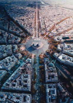 Puzzle Città 1000 pezzi Ravensburger Parigi dall'alto su ARSLUDICA.com