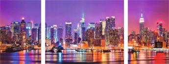 Puzzle Città 1000 pezzi Ravensburger Trittico Di New York
