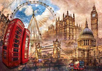 Puzzle Città 1500 pezzi Clementoni Vintage London