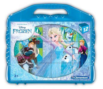 Puzzle Cubi Frozen 12 Pezzi (Puzzle Bambini Clementoni) su ARSLUDICA.com