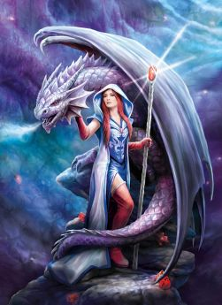 Puzzle Fantasy 1000 pezzi Clementoni Anne Stokes Dragon Mage