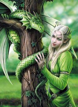 Puzzle Fantasy 1000 pezzi Clementoni Anne Stokes Kindred Spirits