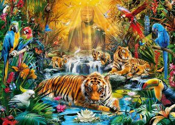 Puzzle Fantasy 1000 pezzi Mystic Tigers Clementoni