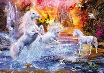 Puzzle Fantasy 1500 pezzi Clementoni Wild Unicorns