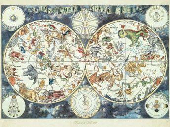 Puzzle Fantasy 1500 pezzi Ravensburger Mappa del Mondo di Animali Fantastici
