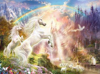 Puzzle Fantasy 500 pezzi Clementoni Sunset Unicorns