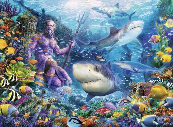 Puzzle Fantasy 500 pezzi Ravensburger Re del Mare