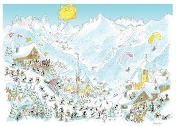 Puzzle Formiche 1000 pezzi Dolomiti Inverno (Puzzle Fabio Vettori) su arsludica.com