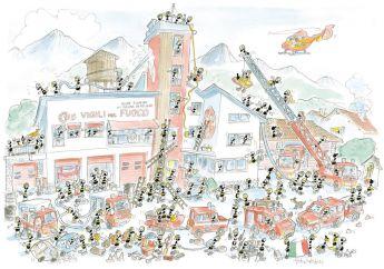 Puzzle Formiche 500 pezzi Pompieri (Puzzle Fabio Vettori) su arsluidica.com