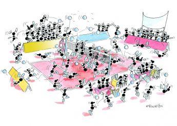 Puzzle Formiche 500 pezzi Pallavolo (Puzzle Fabio Vettori) su arsludica.com