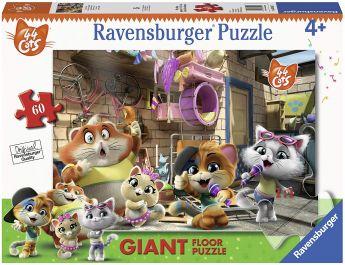 Puzzle Giant Floor 60 Pezzi Ravensburger 44 Gatti