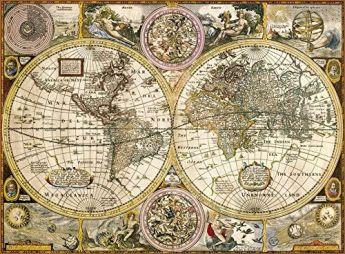 Puzzle Mappamondo 3000 pezzi Clementoni Old Map