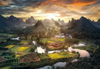 Puzzle Paesaggi 2000 pezzi Clementoni View of China