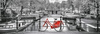 Puzzle Panorama 1000 pezzi Clementoni Amsterdam Bicycle