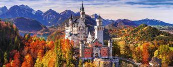 Puzzle Panorama 1000 pezzi Ravensburger Castello di Neuschwanstein