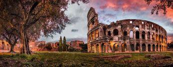 Puzzle Panorama 1000 pezzi Ravensburger Colosseo al Tramonto
